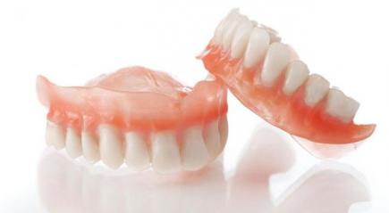 Фото зубных протезов на присосках