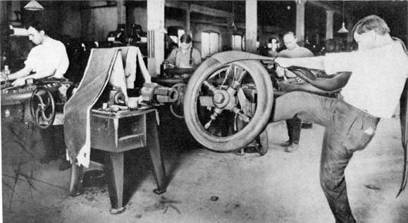 Так раньше делали шины для автомобилей