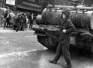 Вхождение советских войск в цент Праги