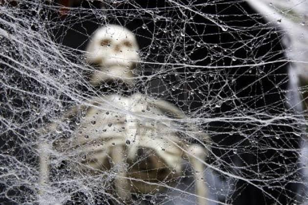 Паутина паука в пещере